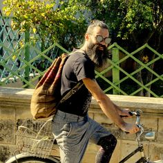 An old bag, an old bike, a nice ride in the sun Old Bikes, Sun, Trending Outfits, Nice, Unique Jewelry, Bags, Clothes, Vintage, Etsy