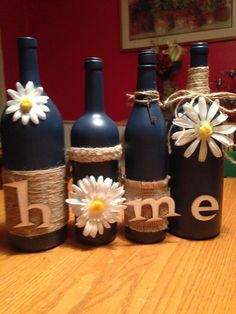 Decorative Wine Bottle set