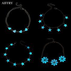 Étoiles Coeur Rougeoyant Bracelet 2016 De Charme de Mode Bracelets Pour Les Femmes Lueur Dans Le Foncé Bijoux B2103