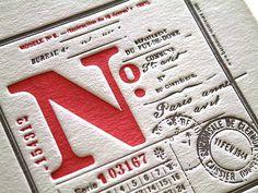 N° - letterpress