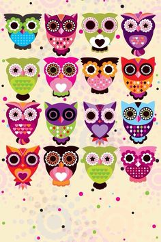 Owls phone wallpaper --- smart phone wallpaper / background