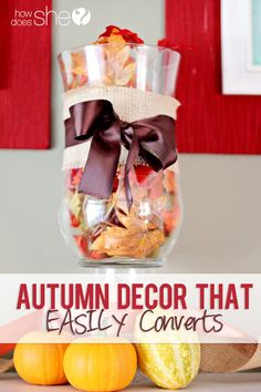 Autumn Decor That EASILY Converts to Halloween decor! Love her ideas!
