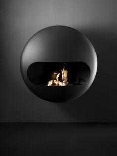 BIOETHANOL CARBON STEEL FIREPLACE BUBBLE DESIGN BY ANDREA CROSETTA | ANTRAX IT