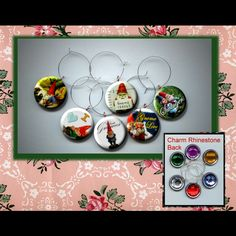 Garden Gnomes Wine Party Glass Marker Charms Set of 6 by Yesware11 on Etsy.. click to see more!