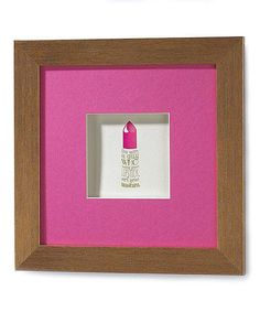 Look at this Lipstick Shadow Box Wall Art on #zulily today!