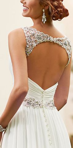 Open Back Dazzling Dress ❤︎ #dream #wedding #inspiration