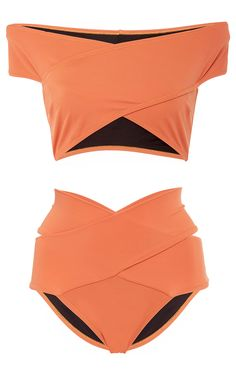 Lucette Banded Bikini Set by OYE for Preorder on Moda Operandi