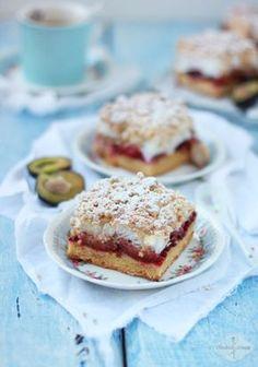 Doskonałe, rozpływajace sie w ustach kruche ciasto ze śliwkami, chrupiącą bezą i kruszonką - najlepsze!