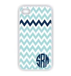 Monogrammed iPhone 5 Case  Tiffany Blue Chevron by CreateItYourWay, $20.99