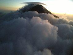Volcan de Fuego on a windy day, Guatemala