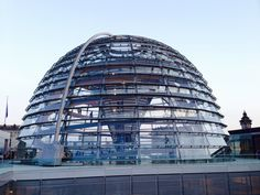 Dome on the Reichstag in Berlin, walking around, having a view over the city