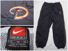 222b992fd37e46 Vintage Men s 90 s Arizona Diamondbacks Nike Pants Black Warmup Windbreaker  Swoosh Nylon XL by GentlyUsedGoods on