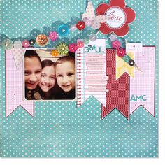 Featuring Bella Blvd's Button Market. The 3 of You Layout by Bella Blvd owner, Stephanie Hunt