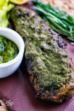 Pork Loin With Pesto Sauce