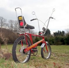 """1975 Raleigh Chopper Mk2. In 1969, the year in which """"Easy Rider"""" was released, Raleigh launched its Chopper bicycle. Although it was initially released in the US, Raleigh Choppers were later distributed to the UK and became the most widely coveted bicycle amongst young boys in the UK."""