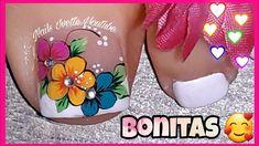 Pretty Toe Nails, Cute Toe Nails, Toe Nail Art, Gorgeous Nails, Gel Nails, Pretty Toes, Nail Salon Design, New Nail Art Design, Sunflower Nails