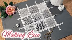Making Lace with a Needle and Thread Cotton Crochet, Thread Crochet, Needle And Thread, Tatting Patterns, Lace Patterns, Sewing Lace, Vintage Sewing, Rose Costume, Bobbin Lacemaking