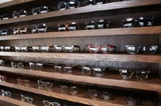 Inside the Warby Parker Class Trip bus pop-up store #warbyparker