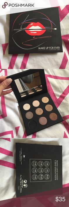 MAKE UP FOR EVER ARTIST SHADOW PALETTE MAKE UP FOR EVER ARTIST EYESHADOW PALETTE. Gently swatched! In excellent condition! Perfect nude palette. NO TRADES NO LOWBALLERS Makeup Forever Makeup Eyeshadow