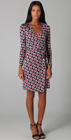 a0bb1a157af dvf new julian wrap dress in diamond haze large Womens Closet