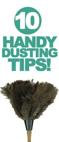 10 dusting tips.  So doing this!