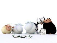 White Sheep Negro Ovejas • MI CHAT DIY • Proyectos de bricolaje, manualidades, regalos y más!