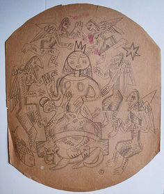 Madonna & Angels Adolf Odorfer Graphite on paper 33.5 x 27 cm.