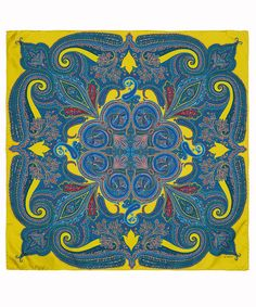 Etro Small Lime Paisley Silk Scarf | Scarves by Etro | Liberty.co.uk