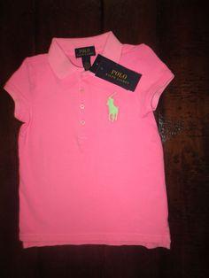 9dab064db98 New polo ralph lauren girl s polo shirt size 5 big pony hot pink nwt