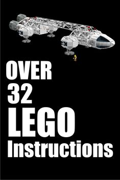 Over 32 LEGO instructions in PDF form.  Star Wars and Space vehicles. #ad
