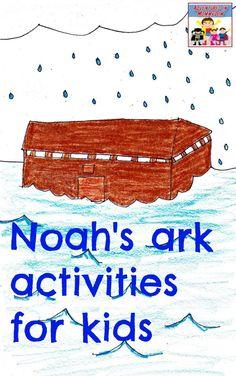 Noah's ark activities for kids Noahs Ark Game, Noahs Ark Craft, Noah's Ark Bible, Children's Bible, Bible Story Crafts, Bible Stories, Christian Classroom, Toddler Bible, Preschool Bible