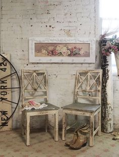 Painted Cottage Chic Shabby Farmhouse Chair [PCCHR52] - $139.00 : The Painted Cottage, Vintage Painted Furniture