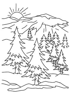 Mountains Coloring Pages Art For Kids Mountain Crafts For Kids