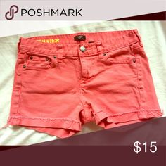 J crew denim shorts Only worn a handful of times, great condition. These shorts are adorable. I'm 5.8' 122 wear size 4  and they fit great. Super stretchy and don't lose shape. J. Crew Shorts Jean Shorts