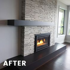 Can you believe Fall is just around the corner!? We can't either, but hopefully this fireplace transformation can help you warm up to the idea! This resident was seeking a fresh face lift for their living room's focal point. Below are the steps prior to beginning construction: Prepare Conceptual Concepts Selection of Materials: 3D-Marble Stack Stone. Mantel and Hearth: Dekton Prepare Construction Drawings Begin Construction Voila! What do you think?  #TransformationTuesday #InteriorVisionsLL
