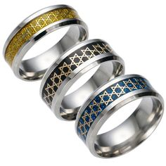 Star of David 8mm Titanium Ring