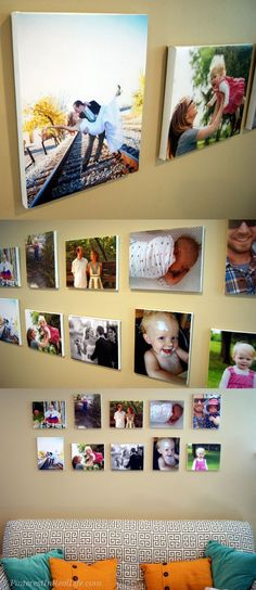 DIY Wall Canvas Photos Tutorial Review - great alternative to ordering expensive wall canvases, esp. if you want to update pics regularly