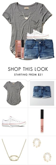 """You are my sunshine!☀️//Kylie"" by preppygirls07 ❤ liked on Polyvore featuring beauty, Hollister Co., American Eagle Outfitters, Converse, NARS Cosmetics, Kendra Scott and Urban Decay"