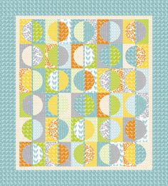 Half Moon Modern Project Sheet PS32349 Moda- Moda Quilt Sewing Patterns. $2.99, via Etsy.