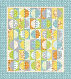 Half Moon Modern Project Sheet PS32349 Moda- Moda Quilt Sewing Patterns. $2.99, via Etsy.