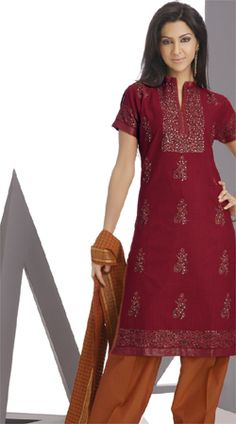 designer handloom cotton salwar kameez with floral motifs embroidery self woven with delicate dupatta patch work