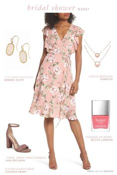Outfits to wear to a bridal shower #bridalshower #guestoutfit