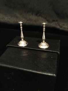 Miniature Artisan Signed Sterling Silver Pair Of Sheffield Candlesticks | eBay