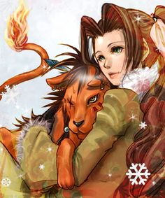 Aerith & Red XIII