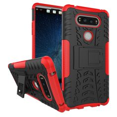 Silicone Armor Phone Holder Stand Case For LG V20 With Cover Shock Proof - Free Shipping Worldwide