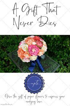 Wedding Bouquet - Paper Flower Bouquet - Bridal Bouquet Flower Bouquets, Wedding Bouquets, Undying Love, Paper Design, Paper Flowers, Bridal, Floral, Gifts, Florals
