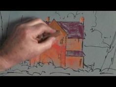 Pastel painting farm house - How to draw in pastel - paint along art lesson - YouTube