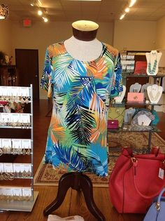 Colorful pam top from Finley's Boutique!