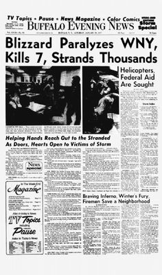 The Buffalo Evening News; Saturday, January 29, 1977:A day after the blizzard began.