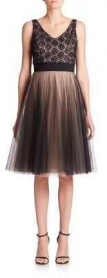 NHA KHANH Raegan Lace & Tulle Layered Dress